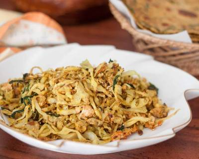 Cabbage Bhurji Recipe