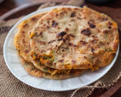 Carrot & Sweet Potato Paratha Recipe