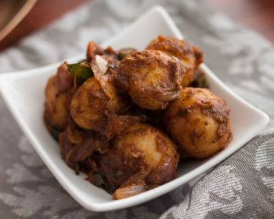Chettinad Style Urulai Roast Recipe - Baby Potato Roast