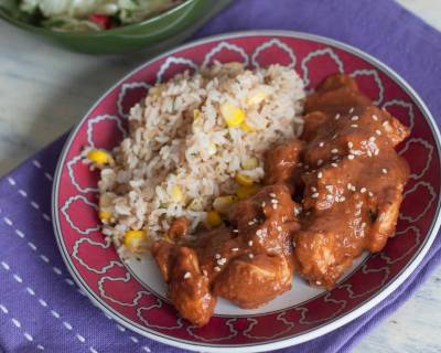 Chicken Mole With Brown Rice Recipe