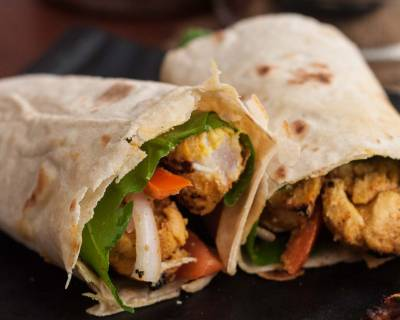 Achari Chicken Tikka Wrap Recipe