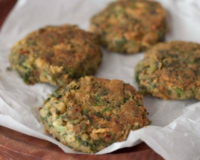 Chickpea and spinach fritters Recipe
