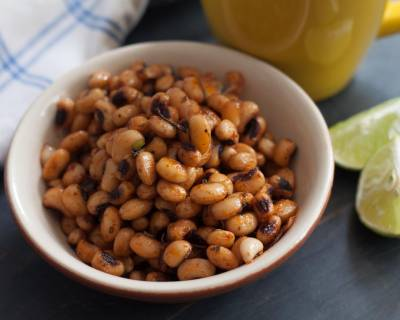 Chilli Roasted Black Eyed Peas Recipe