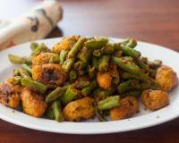 Fansi Muthia Nu Shaak Recipe - Green Beans With Gram Flour Dumplings