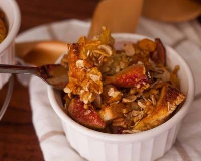 Figs and Muesli Bread Pudding Recipe