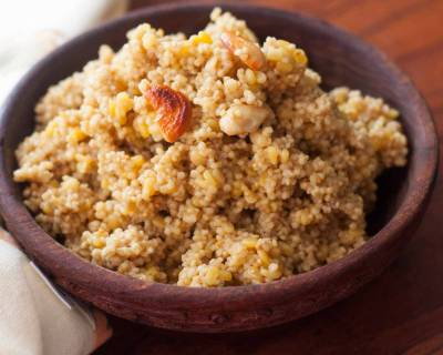 Gujarati Style Lapsi Recipe - Millet Sweet Pudding