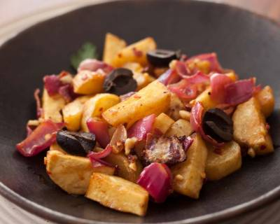 Honey Roasted Sweet Potato With Red Onions Recipe