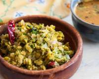 Karnataka Style Bassaru Palya Recipe - Toor Dal And Dill Leaves Stir Fry