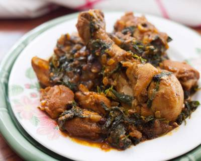 Methi Murgh Recipe - Chicken with Fenugreek Leaves