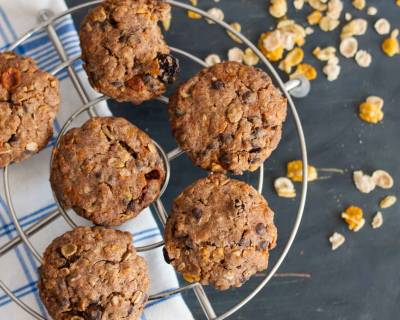 Muesli Ragi Chocolate Chip Cookies Recipe