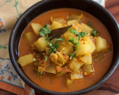 North Indian Style Green Raw Papaya Curry Recipe