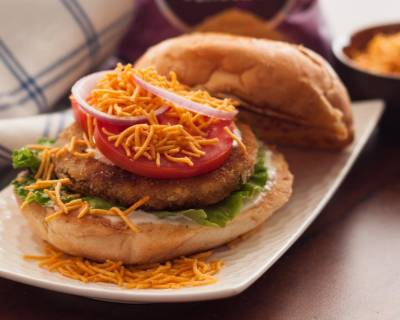 Open Burger with Vegetable Patty Recipe