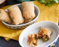Oven Crisped Burritos with Shredded Chicken Recipe