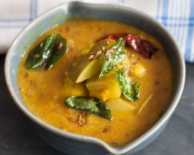 Raw Mango Sambar Recipe - South Indian Mangai Sambar Recipe