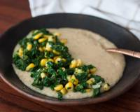 Savory Oatmeal Bowl with Sautéed Spinach and Corn Recipe