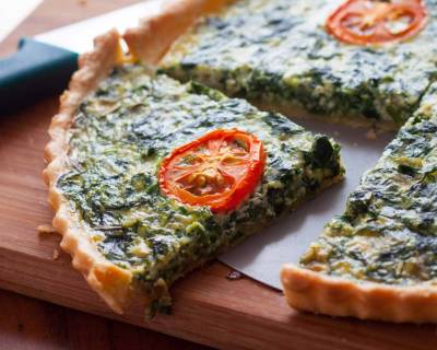 Spinach And Tomato Quiche Recipe
