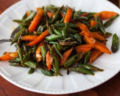 Stir Fried Carrot And Green Beans Recipe