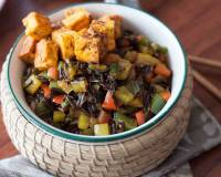 Stir Fried Wild Rice with Peri Peri Tofu Recipe