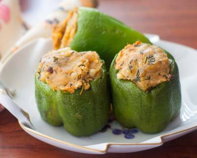 Stuffed Capsicum With Sweet Potato Recipe