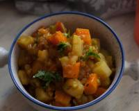 Sweet Potato And Carrot Sabzi Recipe