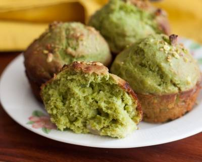 Sweet Spinach Whole Wheat Muffin Recipe