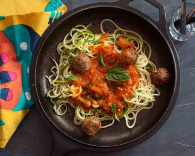 Zucchini Zoodles with mushroom Meatball Recipe