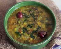 Thotakura Pappu Recipe (Toor Dal with Amaranth Leaves)