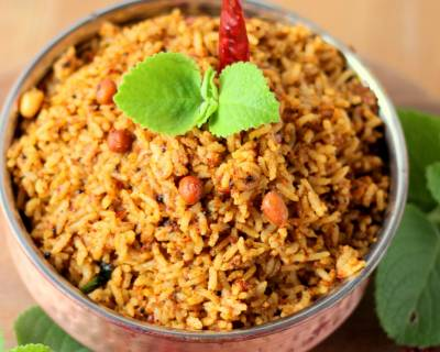 Doddapatre Soppina Chitranna Recipe (Spiced Indian Thyme Rice)