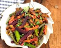 Aloo Beetroot and Baby Corn Mixed Sabzi Recipe
