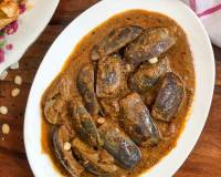 Chettinad Kathirikai Chops Recipe - Brinjal Curry for Biryani