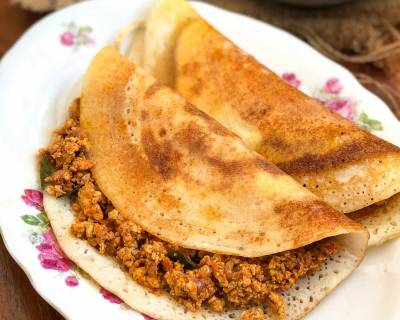 Chicken Keema Dosa Recipe - Madurai Kari Dosa Recipe
