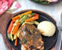 Chicken Steak Recipe With Pan Roasted Vegetables & Potato Mash