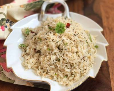 Herbed Butter Rice Recipe With Rosemary & Thyme
