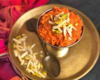 Easy Gajar Halwa Recipe With Khoya Made In A Pressure Cooker