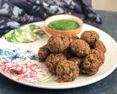 Healthy Kala Chana Pakora Recipe - Black Chickpea Pakora