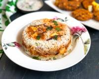 Layered Paneer Butter Masala Biryani Recipe