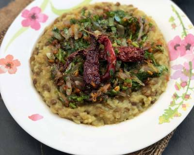 Tadkewali Masoor Dal Khichdi Recipe With Garlic & Onions