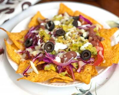 Loaded Veggie Nachos Recipe - A Delicious Mexican Appetizer