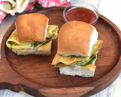 Masala Omelette Sliders Recipe - High Protein Breakfast