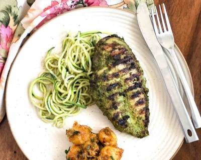 Try This Basil Pesto Grilled Chicken & Zoodles For Dinner