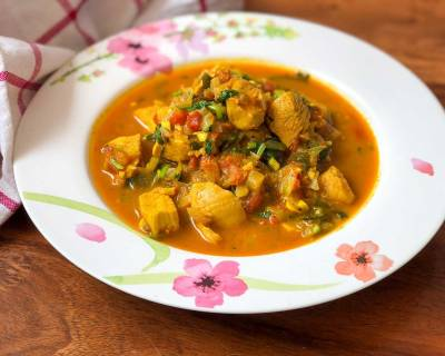 One Pot Pressure Cooker Chicken Curry Recipe