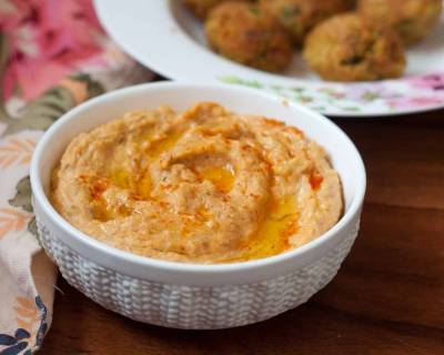 Sriracha Hummus Recipe - Sriracha Flavoured Middle Eastern Dip
