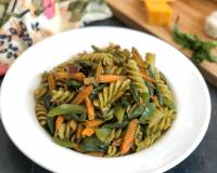 Spicy Thai Pasta Recipe With Roasted Vegetables