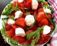Watermelon Bocconcini Arugula Salad Recipe