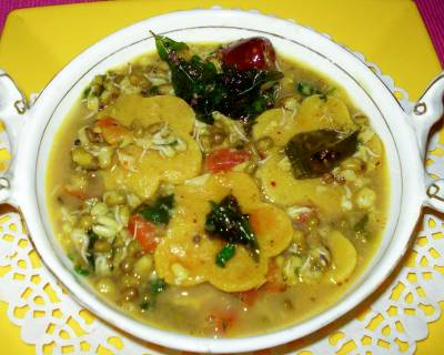 Dal Dhokli Recipe With Sprouted Moong Dal