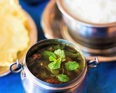 Pudina Rasam Recipe - Mint Leaves Rasam