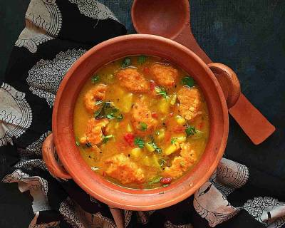 Bengali Chapor Ghonto Recipe-Moong Dal With Vegetables