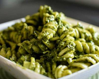 Healthy Kale Pesto Pasta Recipe