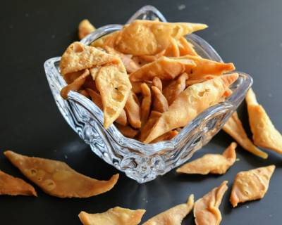 Bengali Style Kucho Nimki Recipe (Diamond Shaped Salty Snacks)