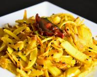 Lau Er Khosha Bhaja Recipe - Bottle Gourd Peel Stir Fry